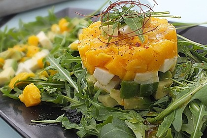 Avocado-Mozzarella-Salat mit Mango 2