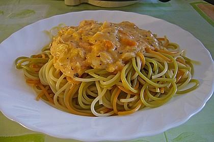 Spaghetti mit Pfirsich - Ingwer Sauce 2