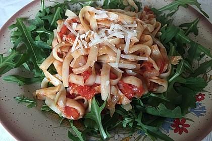Pasta mit Tomaten und Rucola 5