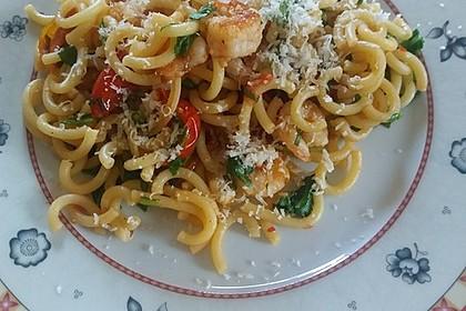 Pasta mit Tomaten und Rucola 4