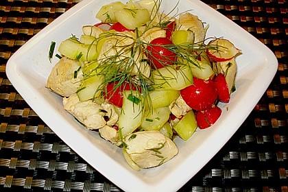 Sommerlicher Hähnchensalat