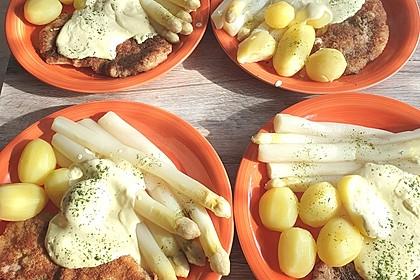 Wiener Schnitzel mit Spargel (Bild)
