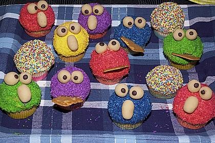 Krümelmonster-Muffins 6