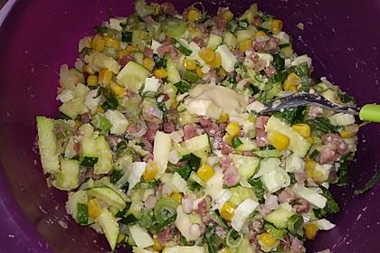 Lauch - Zwiebel - Zucchini - Feta - Knoblauch - Kuchen mit Speckwürfeln 4