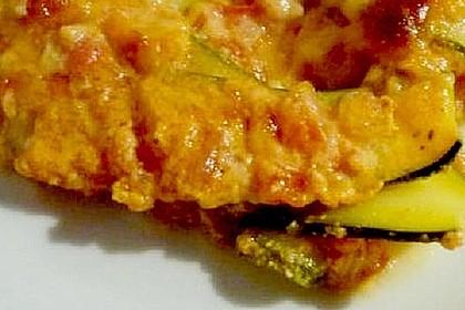 Zucchini - Gratin mit Tomaten - Quark - Sauce 6