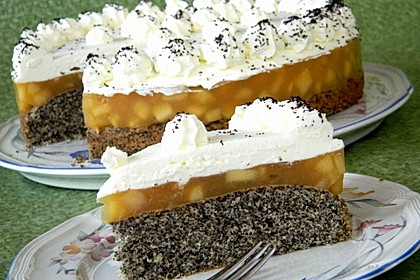 Apfel - Mohn - Torte