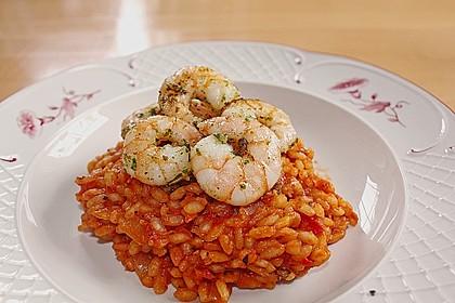 Tomatenrisotto mit Shrimps