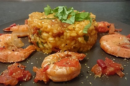 Tomatenrisotto mit Shrimps 1
