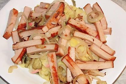 Biergarten - Salat mit Fleischkäse 9