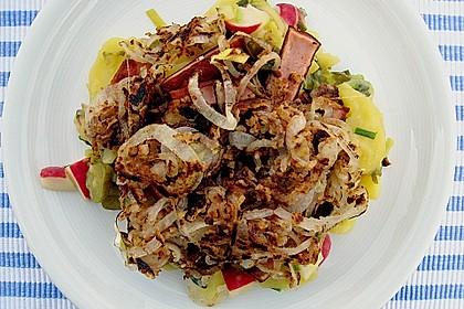 Biergarten - Salat mit Fleischkäse 2