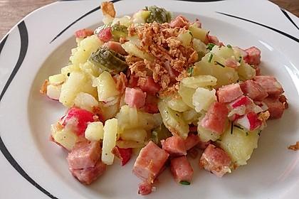 Biergarten - Salat mit Fleischkäse 7