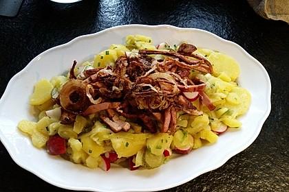 Biergarten - Salat mit Fleischkäse 3