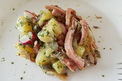 Biergarten - Salat mit Fleischkäse 10