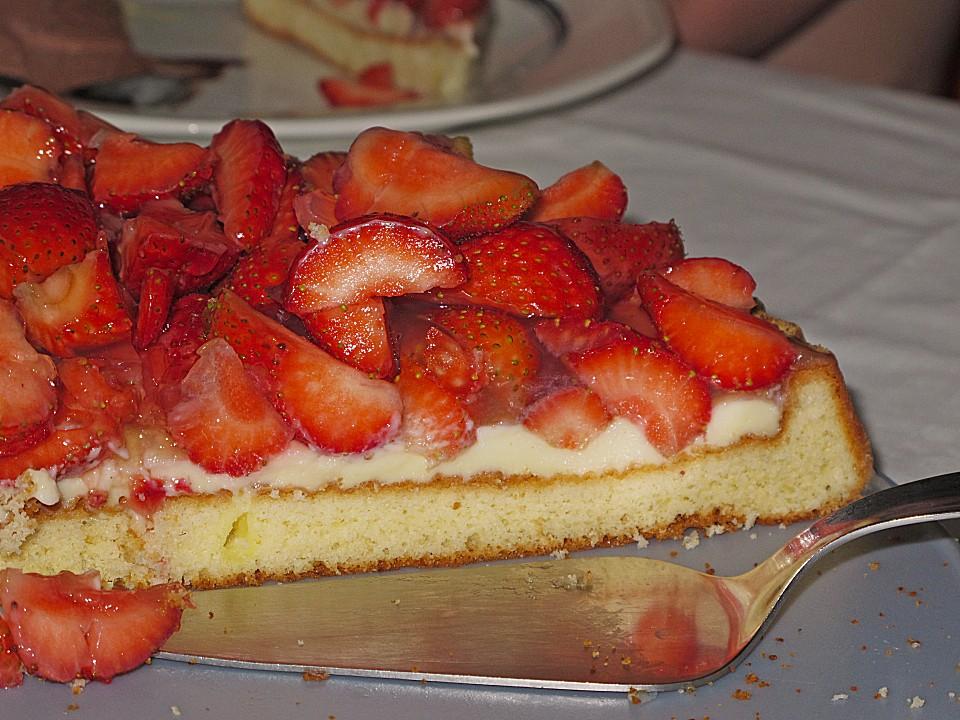 Erfrischender Erdbeerkuchen Von Mausi180 Chefkoch De