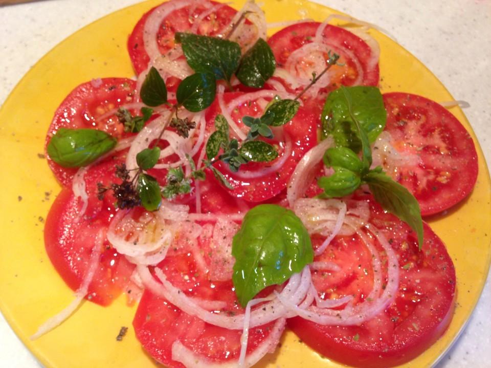 Leichte Italienische Sommerküche : Tomatensalat auf italienische art von gs pe chefkoch.de