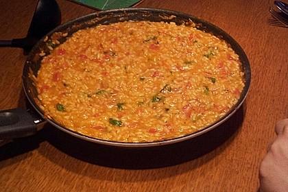 Tomaten-Risotto mit frischen Tomaten 9