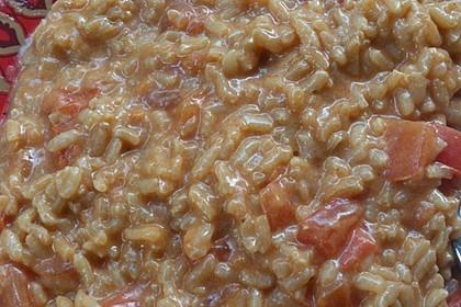 Tomaten-Risotto mit frischen Tomaten 16