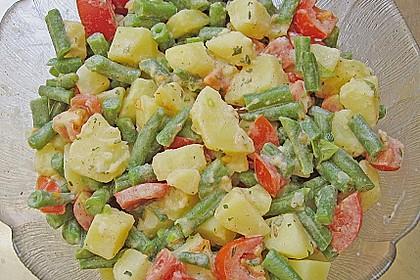 Bohnensalat mit Kartoffeln und Tomaten 2