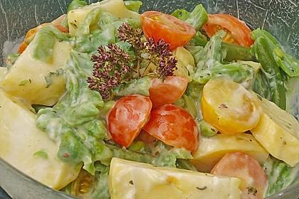 Bohnensalat mit Kartoffeln und Tomaten 1