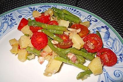Bohnensalat mit Kartoffeln und Tomaten 3