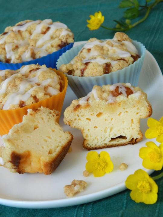 Kasekuchen Muffins Mit Butterstreuseln Von Bezwinger Chefkoch De