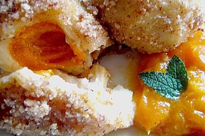 Aprikosenknödel aus Brandteig 4