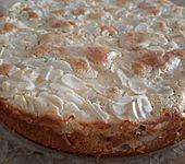 Schneller Rhabarberkuchen mit Mandelguss (Bild)
