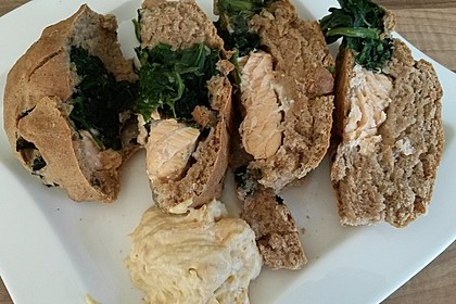 Spinat - Lachs - Brot