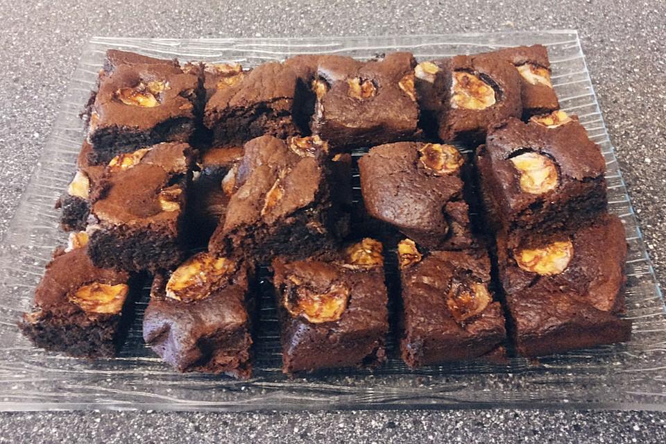 Bananen Nutella Brownies Von Pinktroublebee Chefkoch De