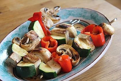 Gemüse - Tofu - Spießchen für den Grill