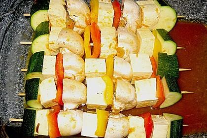 Gemüse - Tofu - Spießchen für den Grill 1