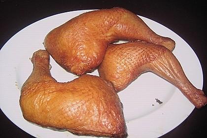 Heiß geräucherte Hähnchenkeulen 3