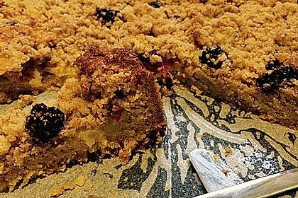 Brombeer - Apfel - Kuchen mit Zimtstreusel (Bild)
