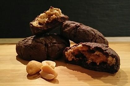 Schoko - Cookies mit Erdnussbutter - Füllung 4