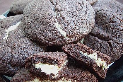 Schoko - Cookies mit Erdnussbutter - Füllung 28