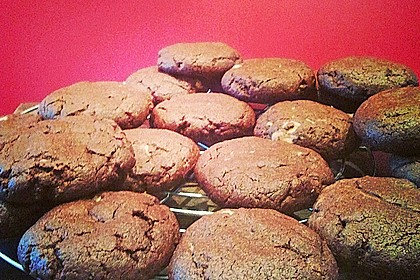 Schoko - Cookies mit Erdnussbutter - Füllung 32