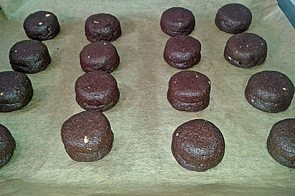 Schoko - Cookies mit Erdnussbutter - Füllung 34