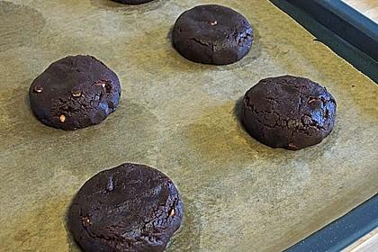 Schoko - Cookies mit Erdnussbutter - Füllung 14