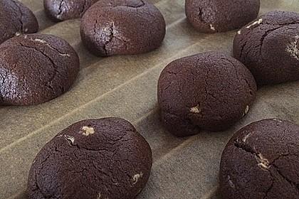 Schoko - Cookies mit Erdnussbutter - Füllung 9