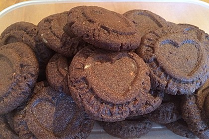 Schoko - Cookies mit Erdnussbutter - Füllung 7