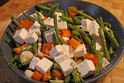 Brillas Bohnensalat mit Schafskäse
