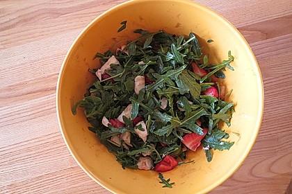 Rucola-Erdbeersalat mit Mozzarella 9