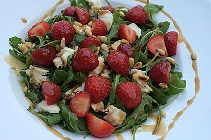 Rucola-Erdbeersalat mit Mozzarella 4