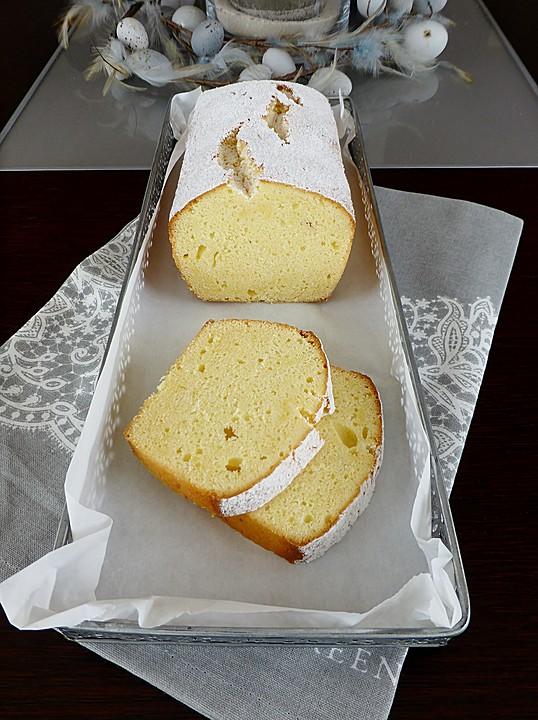 Zitronen - Kastenkuchen mit Frischkäse