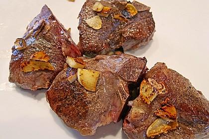 Koteletts vom Lamm mit Grillgemüse