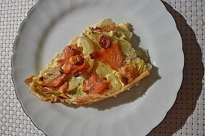 Blätterteigquiche mit Fenchel und Räucherlachs 7