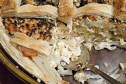 Blätterteigquiche mit Fenchel und Räucherlachs 12