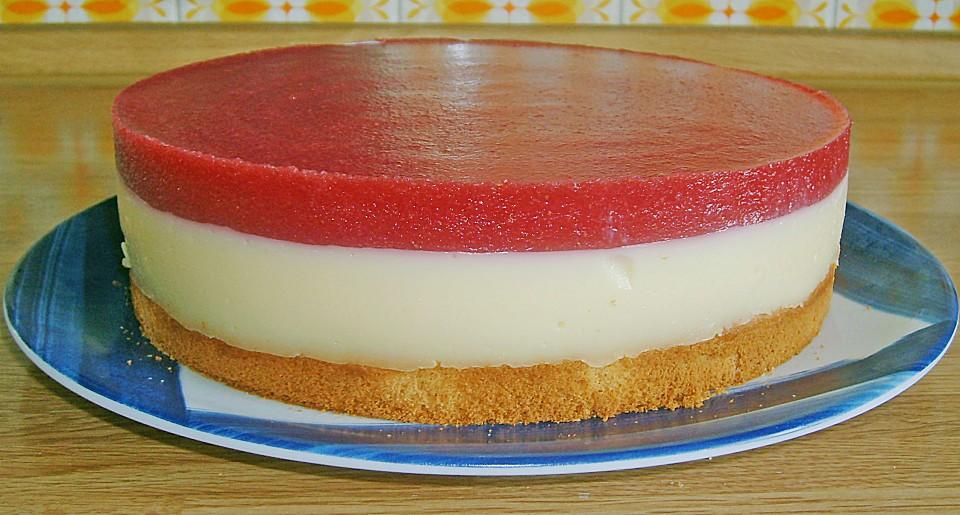 Erdbeermus Pudding Torte Von Lacrimosa 80 Chefkoch De