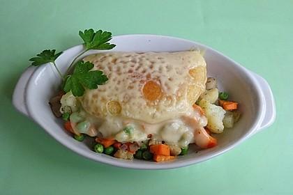 Vegetarische gefüllte Pfannkuchen (Bild)