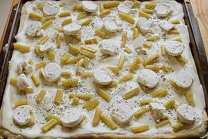 Rhabarberkuchen  mit Ziegenkäse vom Blech 1